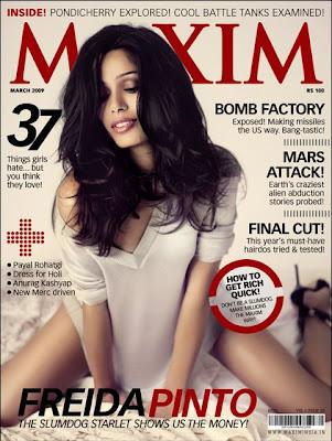 Freida Pinto Maxim Cover Scans