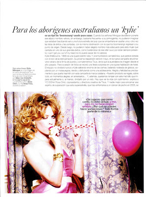 Kylie Minogue Yo Dona Magazine Scans
