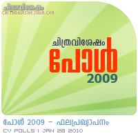 Chithravishesham Poll 2009 - Results. Post by Haree.
