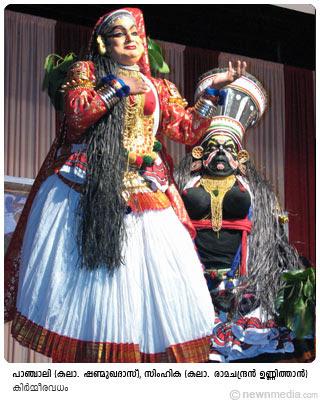 KirmeeraVadham Kathakali: Kalamandalam Shanmukhadas as Panchali, Kalamandalam Ramachandran Unnithan as Simhika.