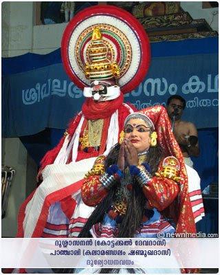 DuryodhanaVadham Kathakali: Kottackal Devadas as Dussasanan, Kalamandalam Shanmukhadas as Panchali.