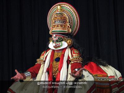 RambhaPravesham Kathakali (Selected scenes from RavanaVijayam): Inchakkattu Ramachandran Pillai as Ravanan.