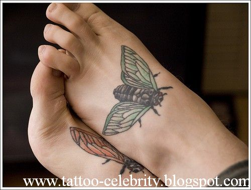 top tattoos celebrity foot tattoo designs. Black Bedroom Furniture Sets. Home Design Ideas