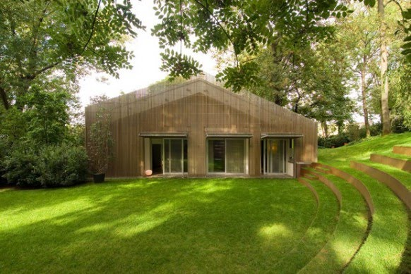 Architechnophilia house of the week 82 house in the woods - Houses woods nature integrated ...