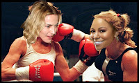 Mariah carey vs Madonna fight punch boxing