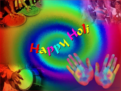 Happy Holi Wallpaper Colourful