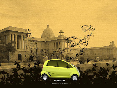 Image : Yellow Colour tata nano car wallpaper , heritage background