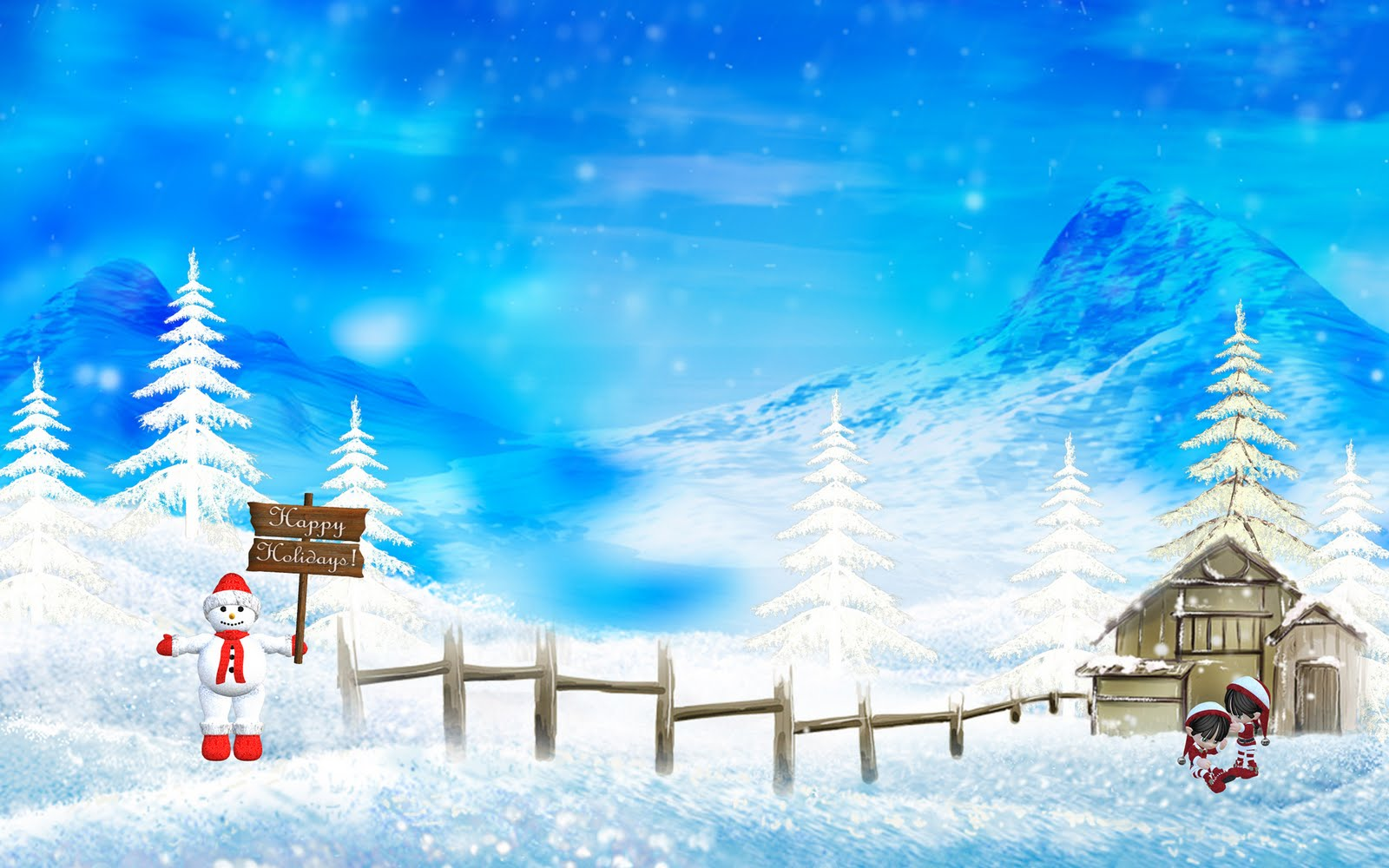 Download Beautiful Christmas snow wallpapers. Christmas snow wallpaper image