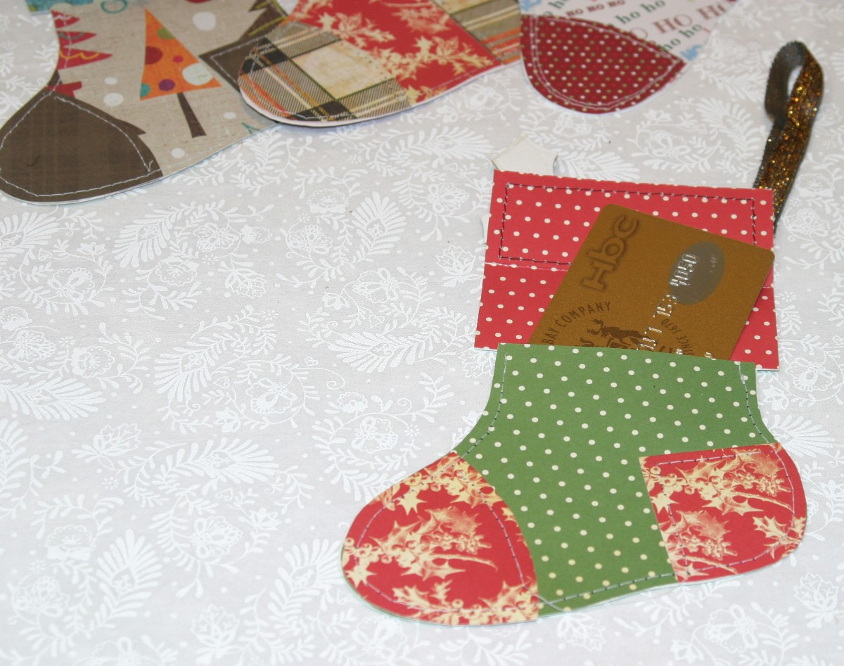 Christmas Stockings Gift Card Holder - Jinkys Crafts