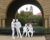Gay Liberation statue by George Segal at Stanford University