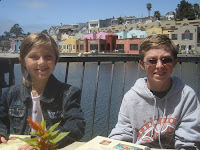 The two youngest at Father's Day lunch in Capitola