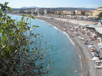 View of the beaches of Nice, Fr.