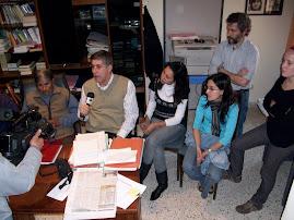 Conferencia de prensa en septiembre de 2009