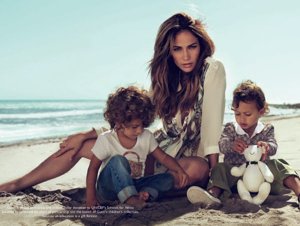 jennifer lopez kids gucci ad. Christian Audigier Womens Gucci Kids 2010 Ad Campaign Featuring Jennifer Lopez and Her Twins