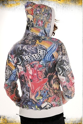 Rose Vintage Tattoo Hoodie Jacket Let's talk some more about tattoos,