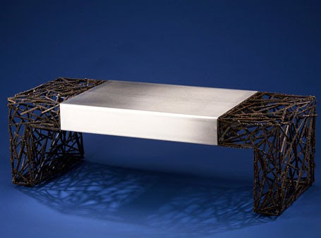 Captivating ... Polyester Resin And A Dash Of Aerospace Engineering, Lee J. Rowland  Created The Ripple Series, Tables That Appear To Stop Time In Its Rippling  Tracks.