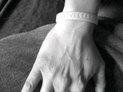 Livestrong B&W wristband
