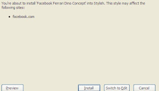 Installing Ferrari theme for Stylish Firefox