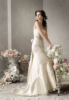Satin Ivory Lace Wedding Dress Collection