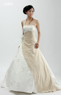 Wedding Dress with Two Beautiful Colors Ceautify