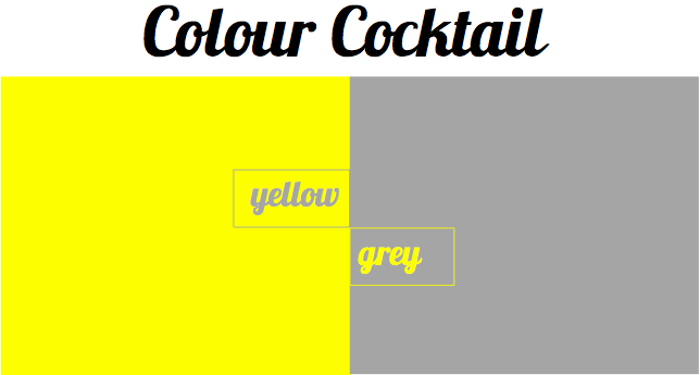 Bright Bazaar Colour Cocktail Grey And Yellow .