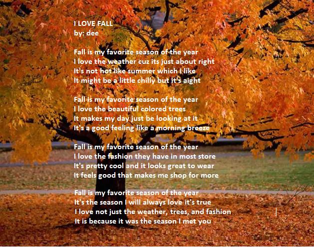 My favourite season autumn essay