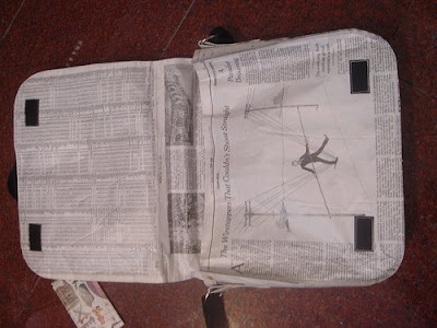 laptop bag made from newspaper (2) 2
