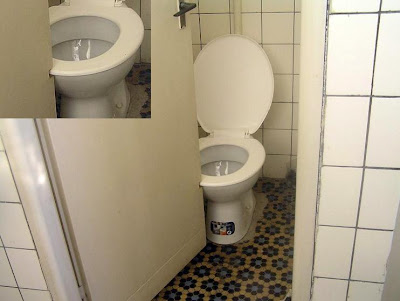 less toilet space