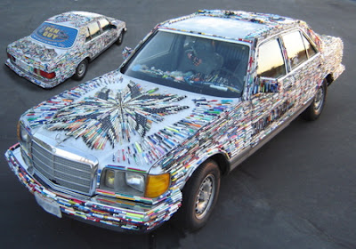 Car Covered By Pens