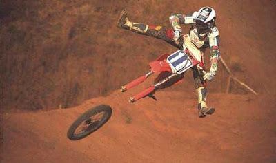biker in air