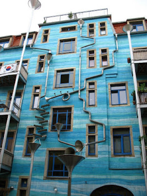 Exterior drainage system of a house in Dresden, Germany 1