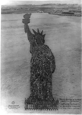 Human Statue of Liberty
