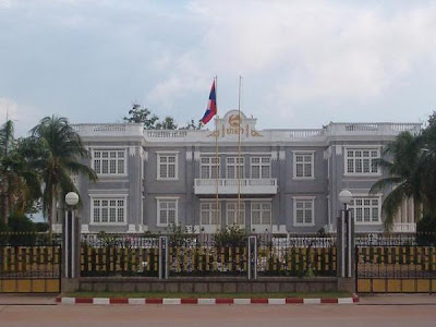 Presidential Palace (Haw Kham) in Vientiane, Laos