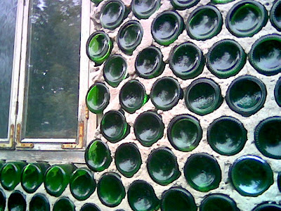 House made from bottles. 2