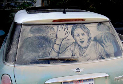 Painting on car windows using dirt (11) 10