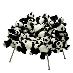 Banquette Chair with Pandas