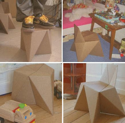 Cardboard kids furntiure