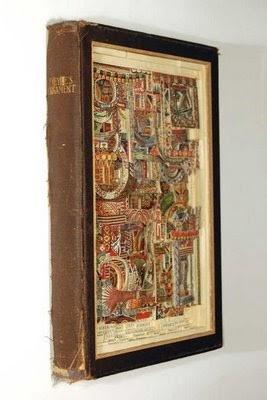 Cool ways to reuse old books for How to reuse old books