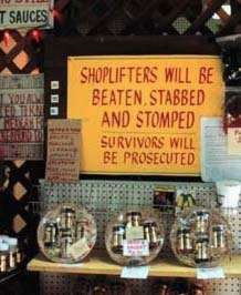 For all the shoplifters, read this carefully!