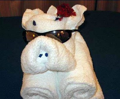 Cute Folded Towel Animals (7) 7