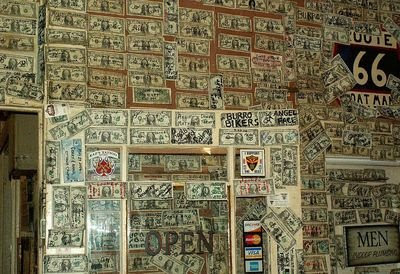 walls made of currency notes