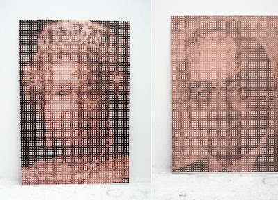 Portraits Made Of Pennies (2) 1