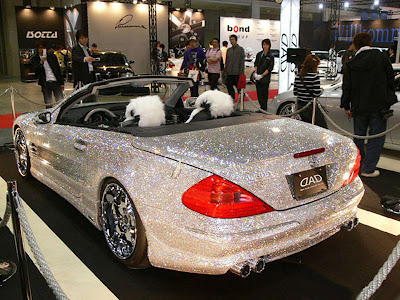 300,000 Swarovski crystals were attached toMercedes-Benz