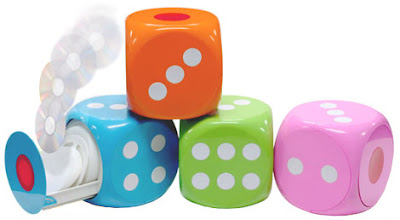 Colorful Dice Shaped  Cd holder