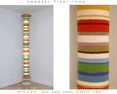 Sweater-Inspired Sculptures And Floor Lamp (3) 2