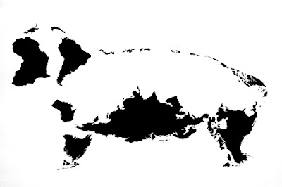 Twelve Animals Created From World Map (12) 8
