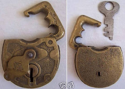 Vintage Antique F-S Hdw Co Brass Padlock Lock