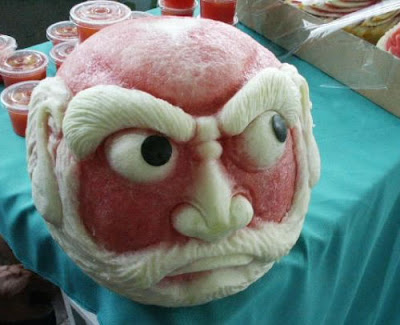 Carved Watermelons (2) 1
