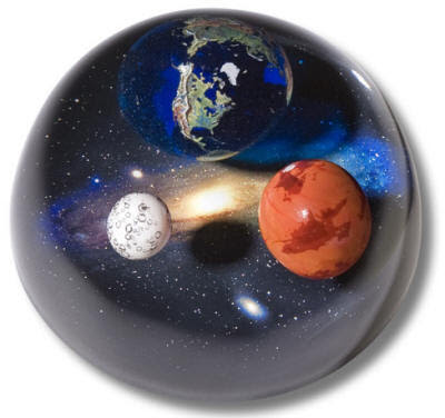 Earth in Space Paper Weights
