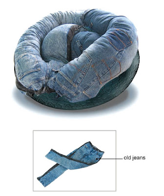 Unique and Unusual Ways To Reuse Old Denim Jeans (36) 11